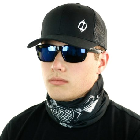 skull gas mask motorcycle neck gaiter bandana