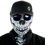 skull with spine motorcycle face mask bandana HRB12