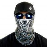 wolf mandala motorcycle face mask bandana front HRB22