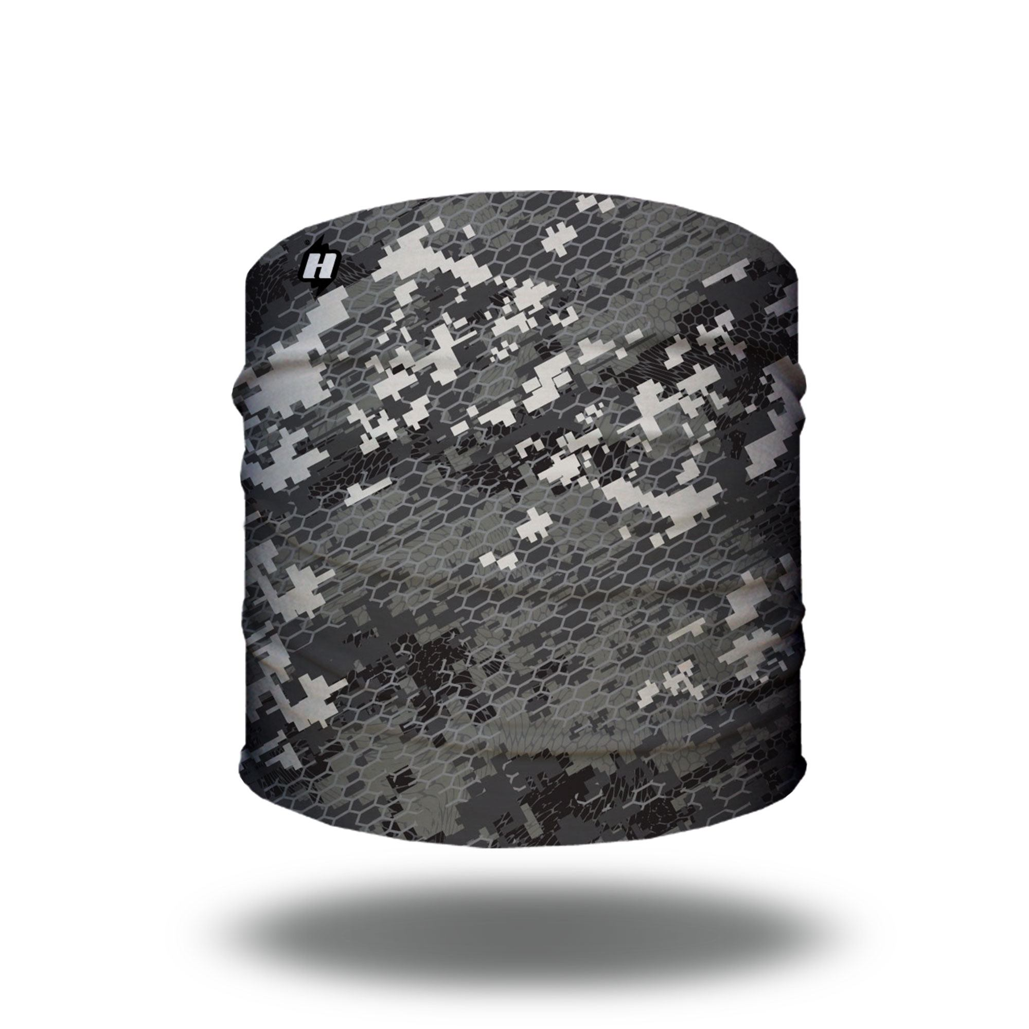 gray grey digital camo hunting headband bandana