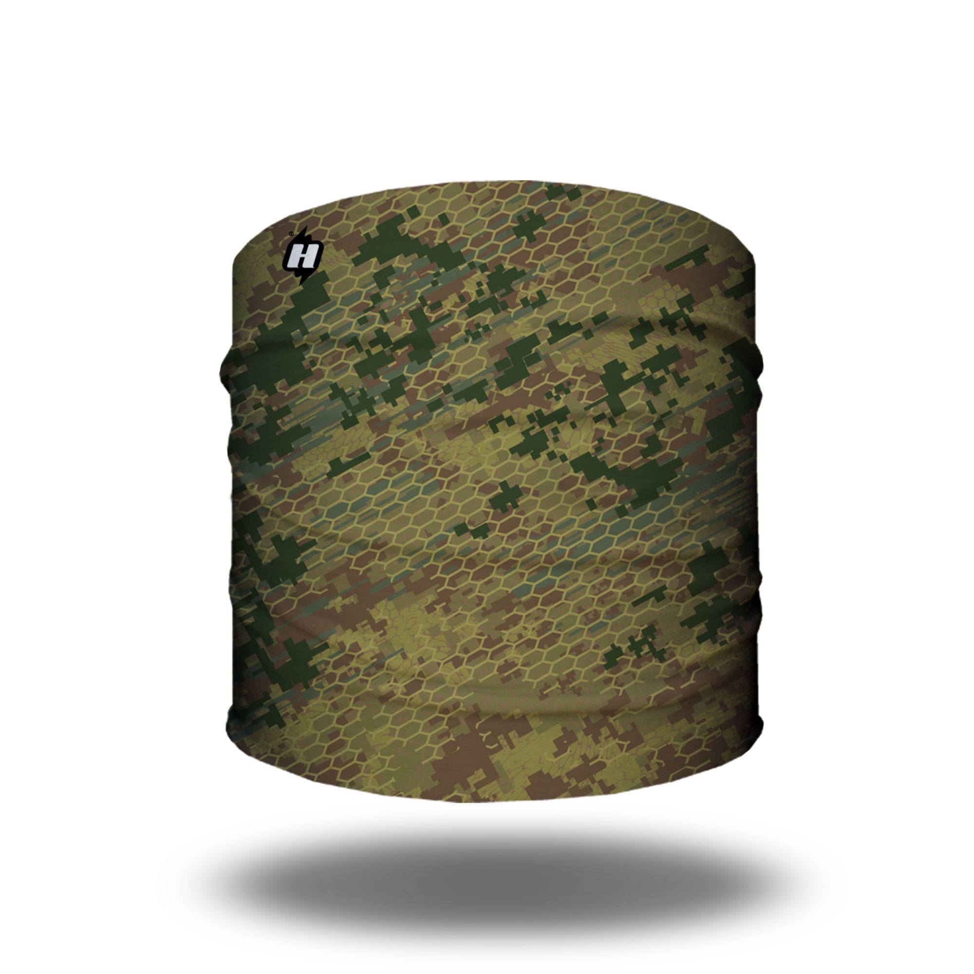 woodlands military green digital camo hunting headband bandana