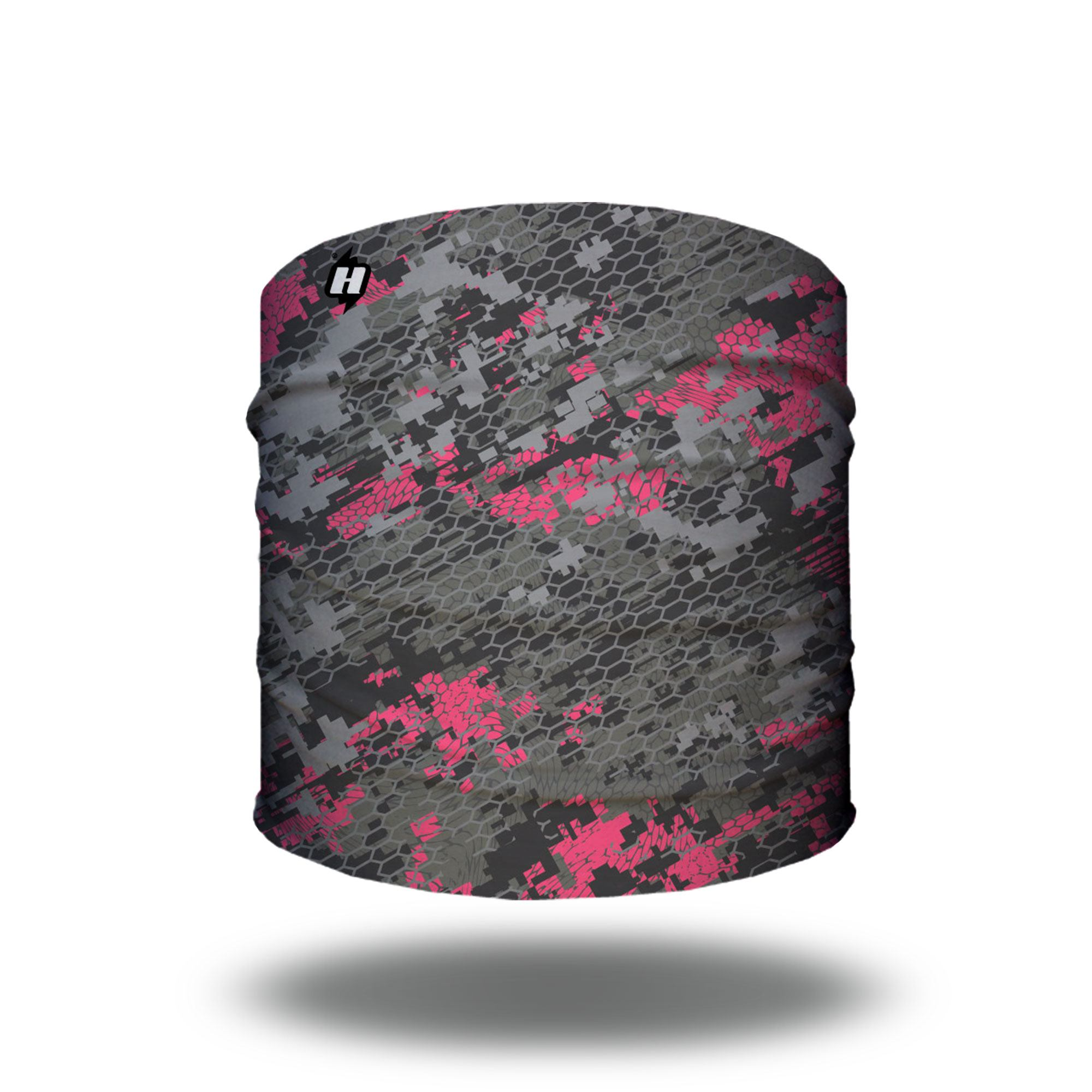 pink digital camo hunting headband bandana