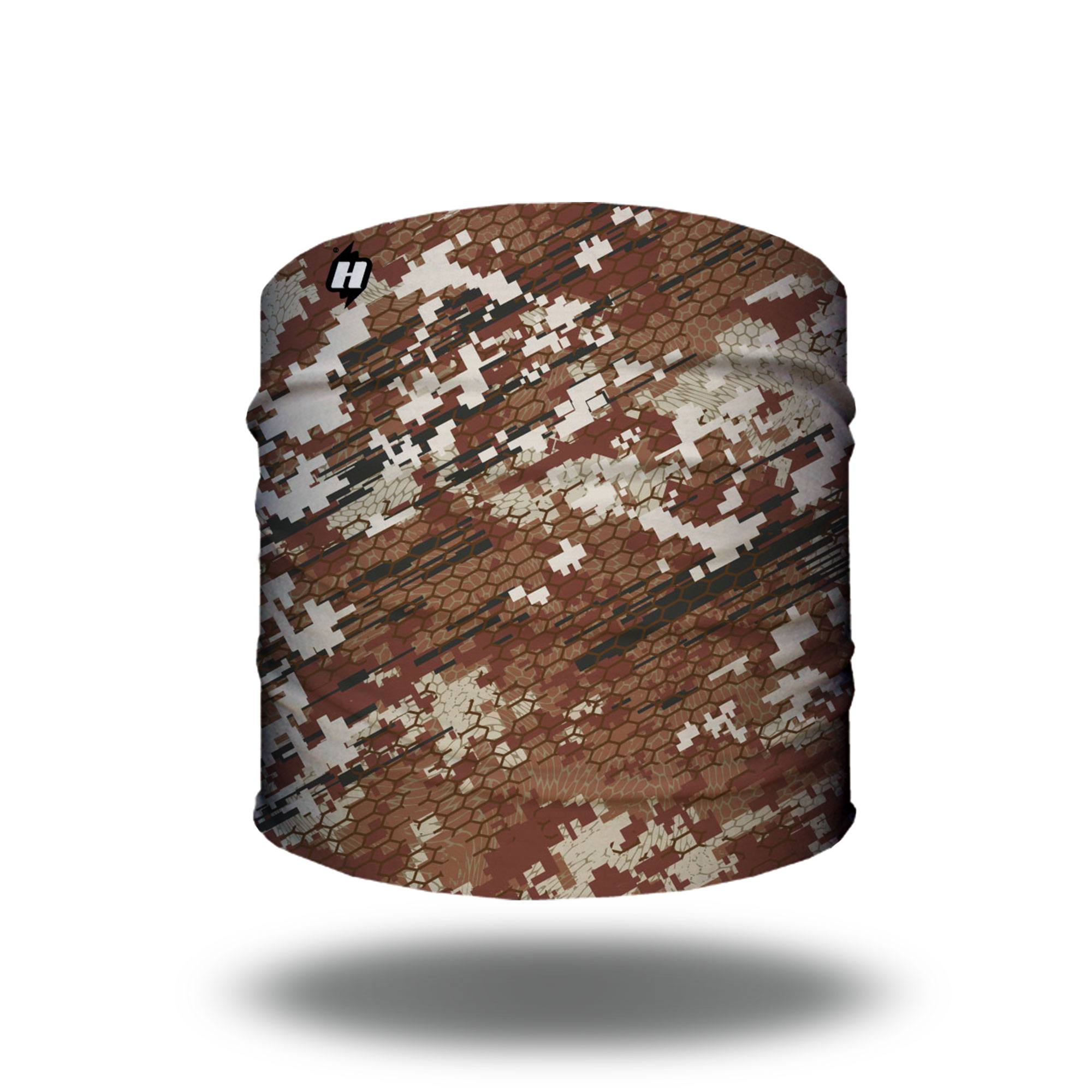 military brown digital camo hunting headband bandana