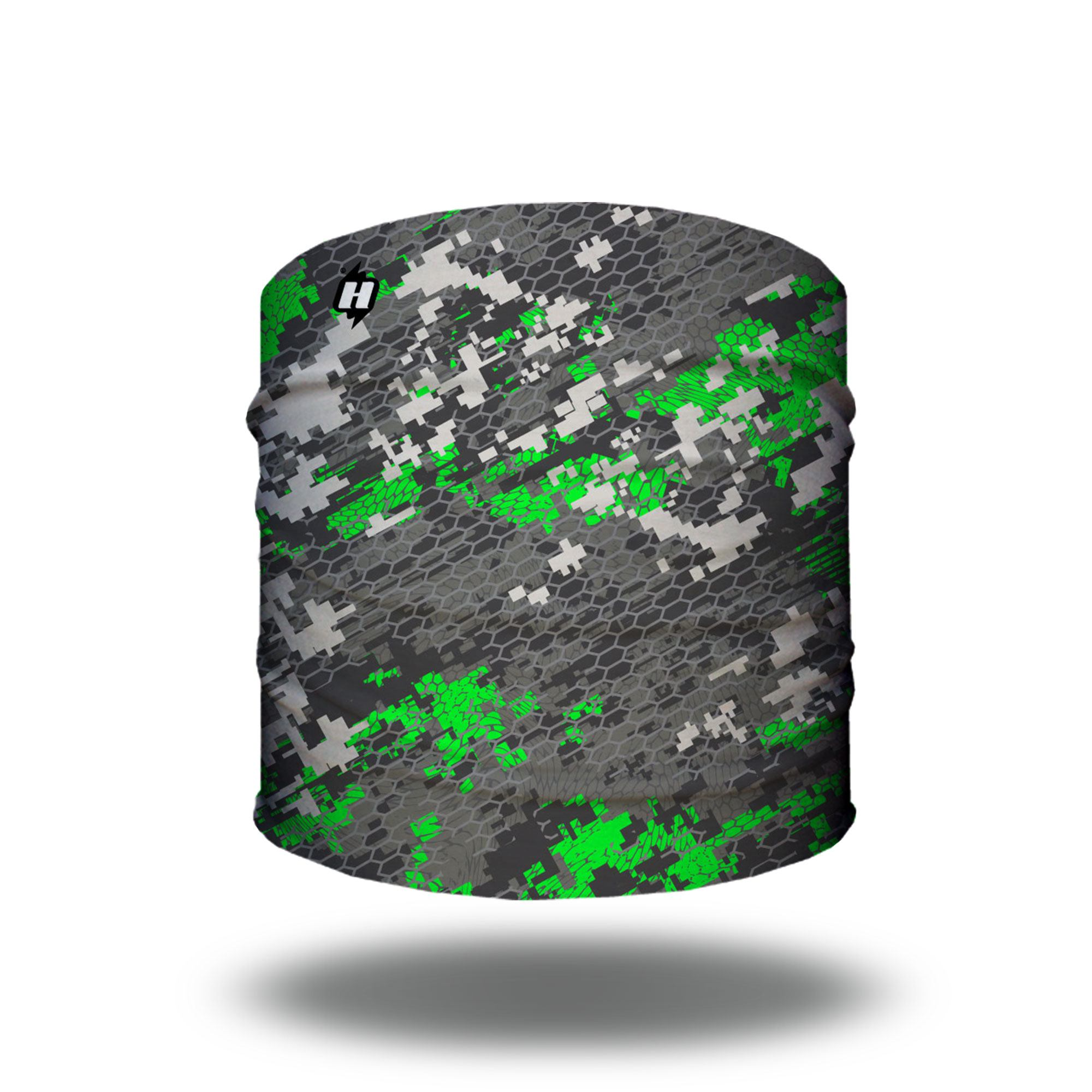 green digital camo hunting headband bandana