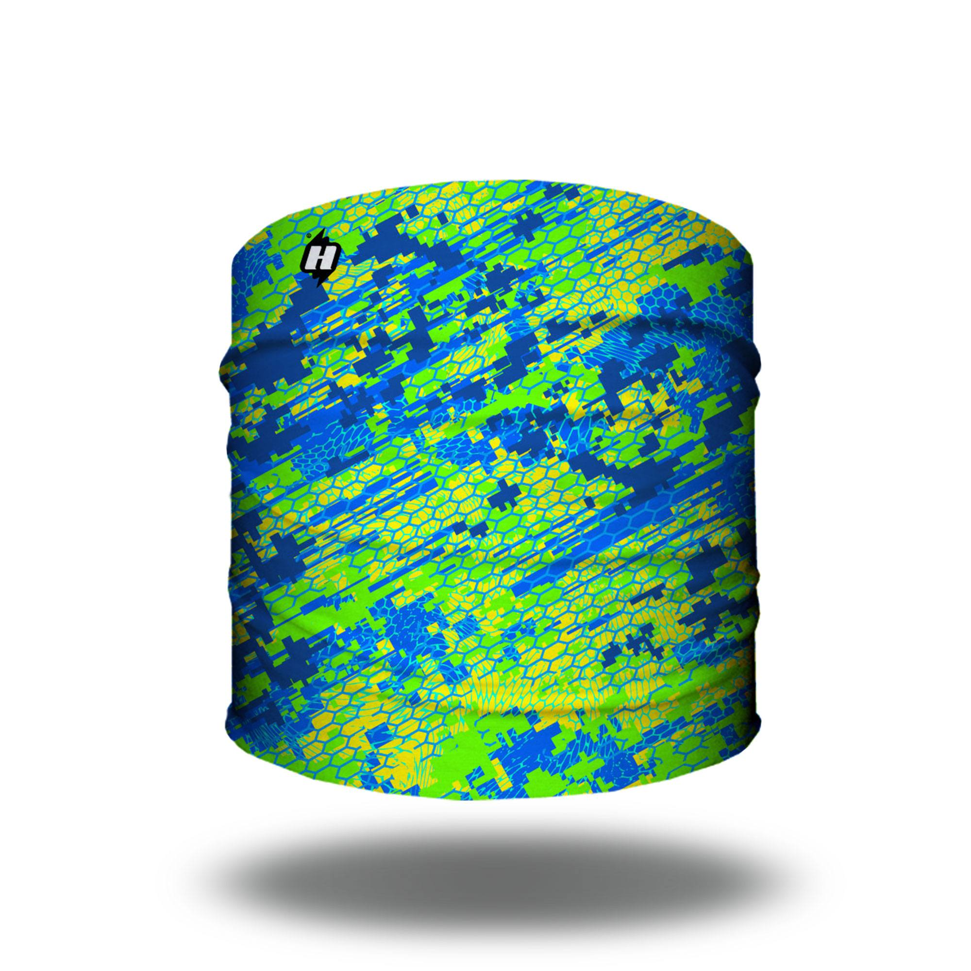 dolphin mahi mahi digital camo fishing headband bandana