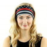 thin red line american flag headband bandana