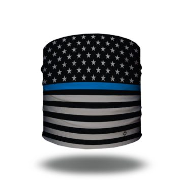 thin blue line american flag headband