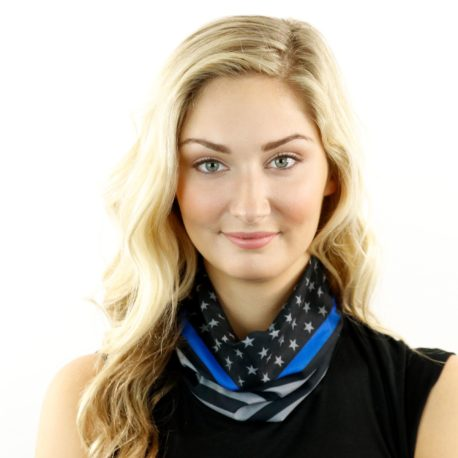 thin blue line american flag neck gaiter bandana