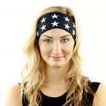black white american flag headband bandana