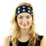 black white american flag headband bandana