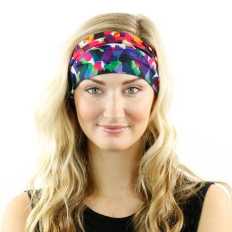 HRL13 neon cheetah headband