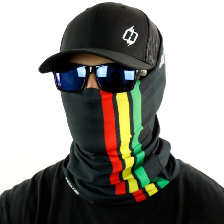 HRN01 rasta jamaica fishing face mask bandana side