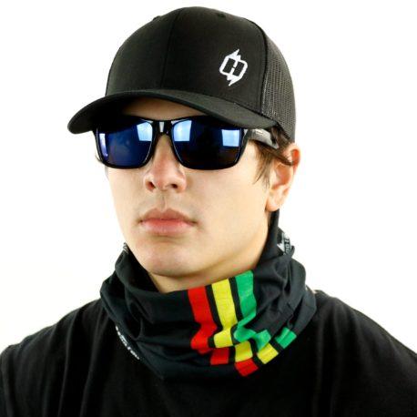 rasta jamaica fishing neck gaiter bandana