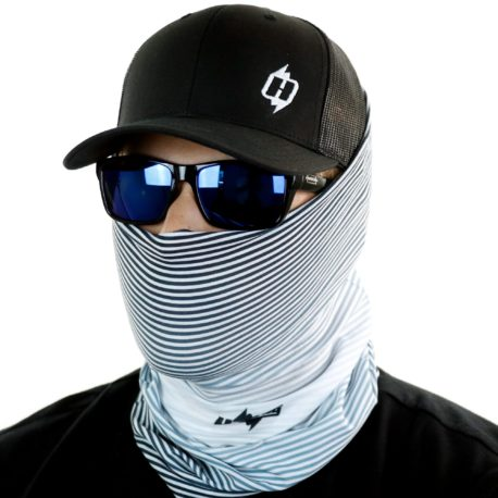 grayscale faded fishing face mask bandana