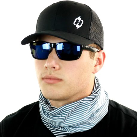 grayscale faded fishing neck gaiter bandana