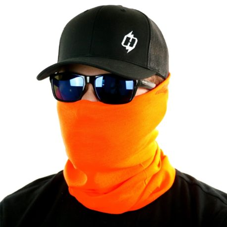 safety orange face mask bandana
