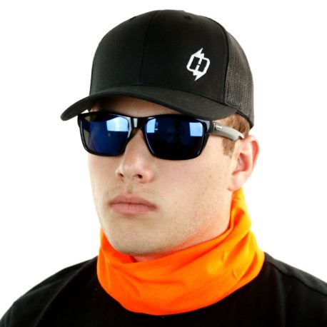 safety orange neck gaiter bandana