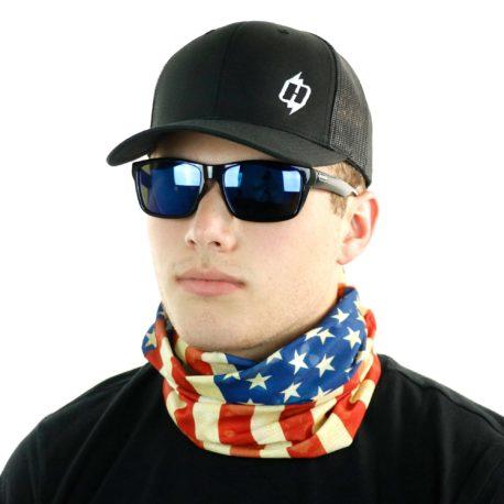 HRM03 american flag fishing neck gaiter bandana