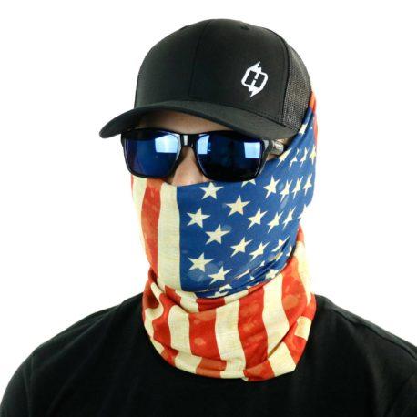 HRM03 american flag fishing face mask bandana