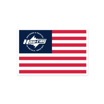 american flag hoorag sticker