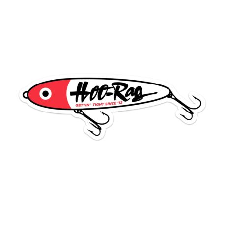 bait fishing hoorag sticker