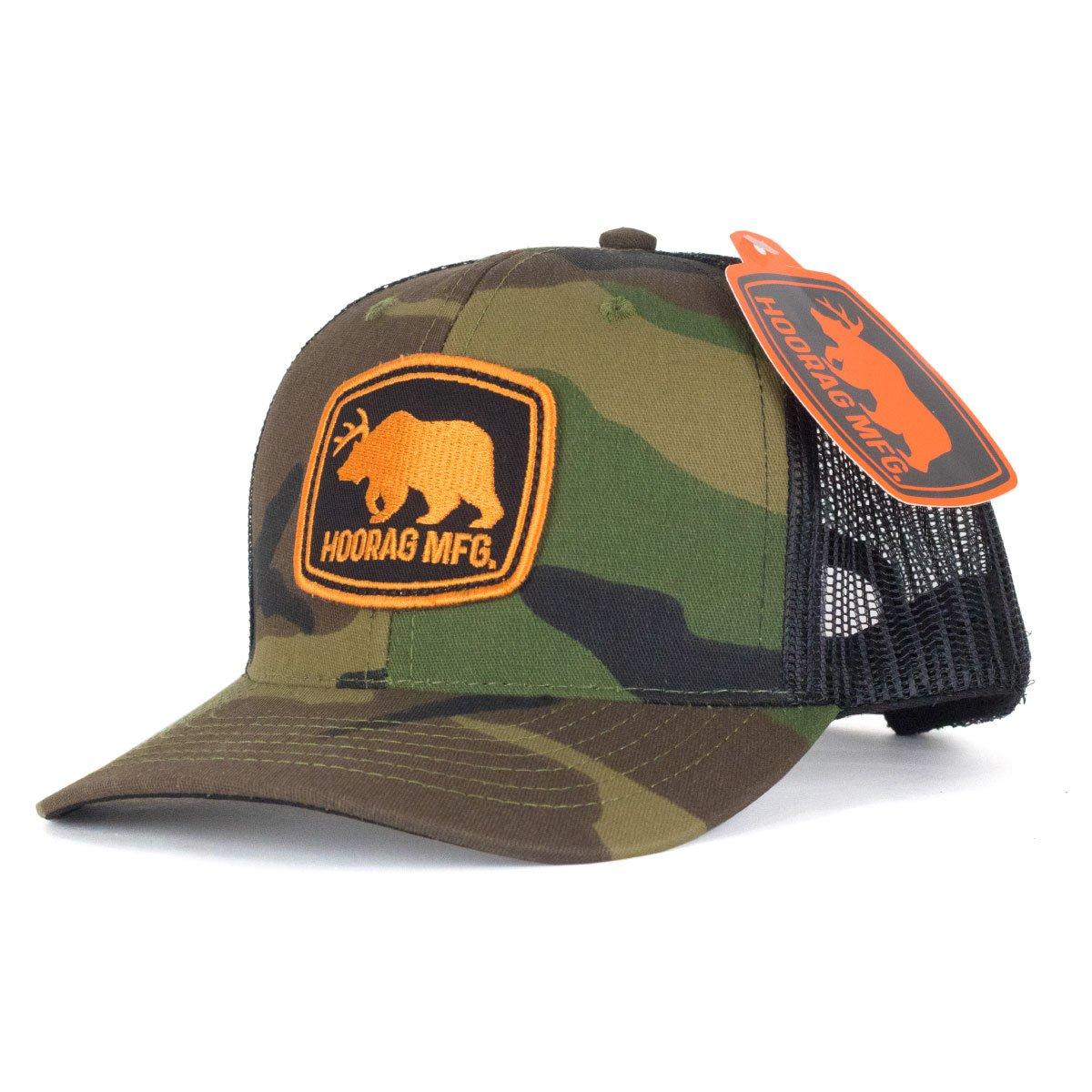 ec559626898 Bear and Deer (Beer) Camo Snapback Trucker hat with bottle opener