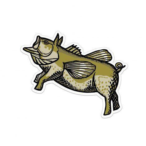 Flying Pond Pig Sticker