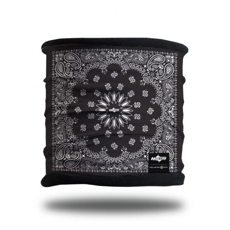 Black Paisley Neck Scarf and Winter Bandana from Hoo-rag