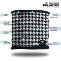 black and white houndstooth fleece lined headband scarf neck gaiter