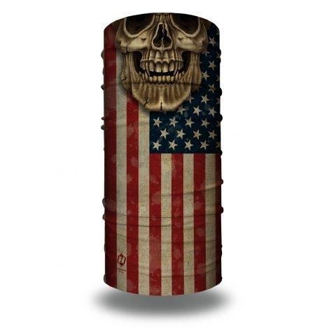 Skull Daddy American Flag Bandana by Hoo-rag