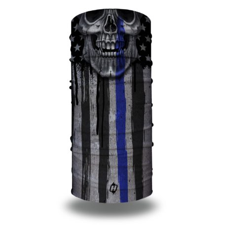 Skull Thin Blue Line Flag by Hoo-rag