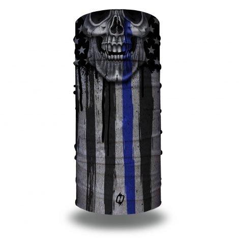 Skull Thin Blue Line Flag by Hoo-rag