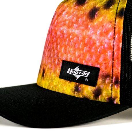 H87 rainbow trout fishing hat branding hoorag