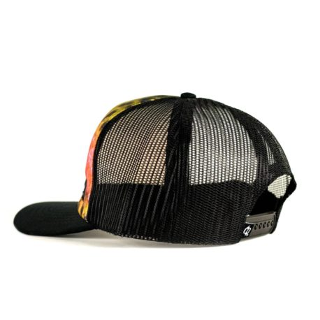H87 rainbow trout fishing hat side profile