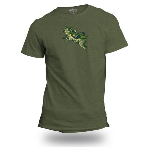 Flying Pond Pig Bass T-Shirt | Fishing Apparel by Hoo-rag, just 19.99-20.99