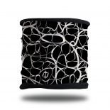 black and white abstract fleece lined headband neck gaiter scarf