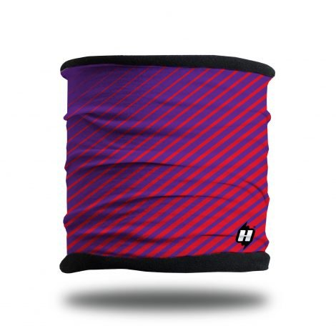 Crossfade purple red fleece lined headband neck gaiter scarf