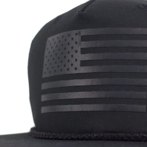 glossy black on black american flag snapback trucker hat ea8249ad238