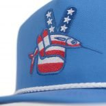 Red, White & Blue Ballyhoo Snapback Trucker Hat - Just 23.99 | Fishing Hats by Hoorag