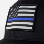 thin blue line american flag snapback trucker hat