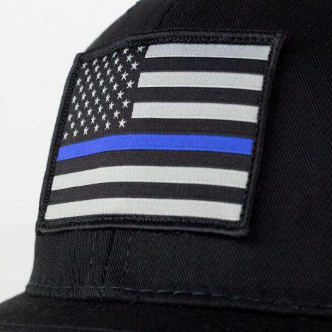 thin blue line american flag snapback trucker hat 8dca6c331902