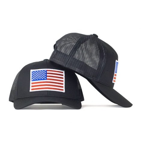 red white blue american flag snapback trucker hat