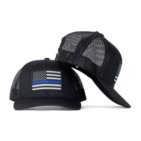 Thin Blue Line Snapback Hat - Just $23.99 | Hats @ Hoo-rag