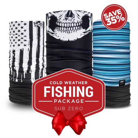 Cold weather fishing package face masks hoo rag for Fishing in cold weather