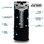 Skull and Spine Fleece Winter Bandana | Face Masks @ Hoo-rag