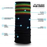 Rasta Knit Pattern Fleece Winter Bandana | Face Masks @ Hoo-rag