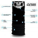 Skull Fleece Winter Bandana | Face Masks @ Hoo-rag