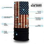 American Flag Fleece Winter Bandana
