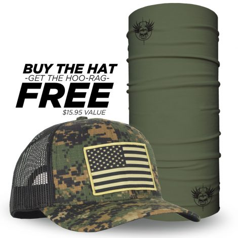 American Flag Hat Patch on Green Digital Camo Hat  a55013ac4b0