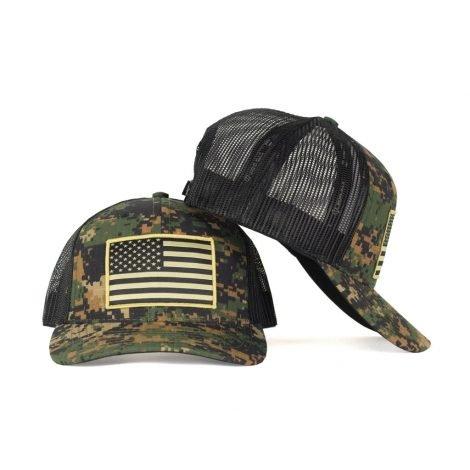 American Flag Hat Patch on Green Digital Camo Hat  c7de8886dc1